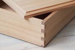 松屋漆器店白木5寸二段重内白木