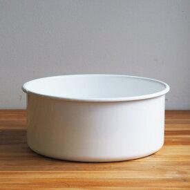野田琺瑯 新 丸型洗い桶 ホワイト 8L
