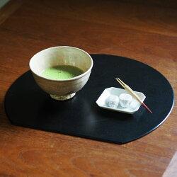 【プロキッチンオリジナル】【2枚セット】半月盆両面黒×赤/PROKITCHEN