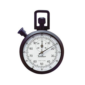 ABSアナログストップウォッチ30分計 1周60秒 最小:1/5秒、1/100分 121.0317-00