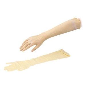 天然ゴムロング手袋 (長〜い手袋) 25双入 420L