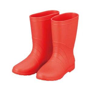 サニフィット耐油長靴(軽量タイプ) 24.0cm 赤 女性用