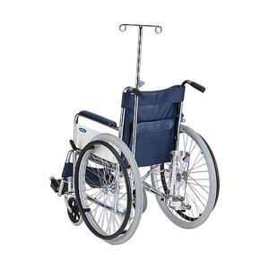 車椅子 (自走式/スチール製/エアータイヤ/伸縮式ガードル棒付き) AND-1-SG