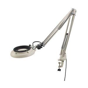 LED照明拡大鏡 (フリーアーム・クランプ取付式) ENVL-F 10x(ファイバースコープ/ルーペ等光学機器)