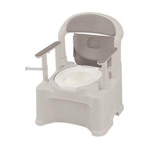 ポータブルトイレ (きらく) (普通便座/580*568*768〜868mm) PS2型