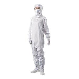 アズピュアクリーンルームウェア (フード・マスク一体・ハイドファスナー) 白 2L 10312W