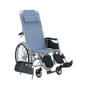 リクライニング車椅子 (自走式/スチール製/座幅400mm/ハイブリッドタイヤ) CM-501 #36