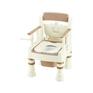 ポータブルトイレ (きらく) (普通便座/490*530*750〜870mm) アイボリー MS型