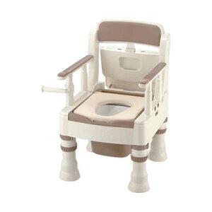 ポータブルトイレ (きらく) (やわらか便座/490*530*750〜870mm) アイボリー MY型