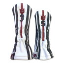 iliac golf Military 3Wood 5Wood Headcover (Pure White/Navy/British Red) イリアック ゴル...