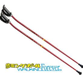 KIZAKI(キザキ) サイズ固定式ポール 歩ミングポール APH-102A(レッド)100cm【ウォーキング】【ウォーキングポール】【ポール】【伸縮式】【歩く】【歩ミングポール】