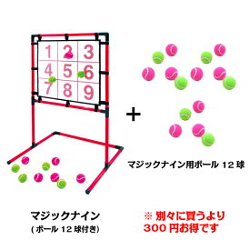あす楽 送料無料EnjoyFamily.エンジョイファミリー SAKURAI マジックナイン EFS-180NとEFS-180ballのセット(ストラックアウト ボード ボール 子供 子ども 遊び ゲーム 練習 トレーニング 投球練習 安全 省スペース 的 野球)