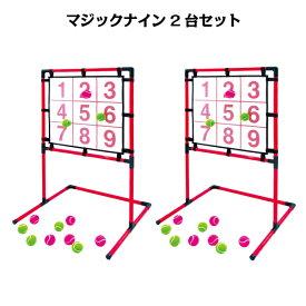 あす楽 送料無料 EnjoyFamily.エンジョイファミリー SAKURAI マジックナイン EFS-180N×2台 (ストラックアウト ボード 子供 子ども 遊び ゲーム 練習 トレーニング 投球練習 安全 省スペース 的 野球)