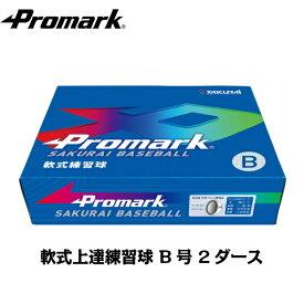 あす楽 PROMARK・プロマーク LB-312B 軟式ボール B号ダース箱x2 (野球 ボール 軟式 練習用 練習球 B号 B球 中学生用 軟式球 軟式ボール 練習ボール)