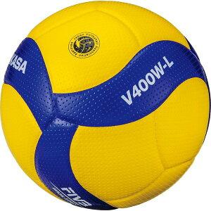 ミカサ(MIKASA) バレーボール 日本バレーボール協会検定球 軽量4号(小学生用)黄/青 V400W-L クーポン発行中