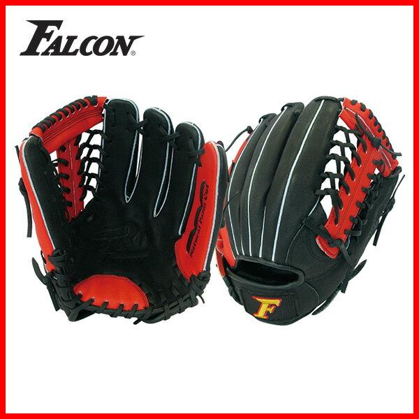 一般軟式用グローブ FG-801 (野球グラブ 軟式野球 Falcon ファルコン 軟式一般用 オールラウンド 天然皮革 親指革命 globe 赤 黒) 1005_flash 02P03Dec16