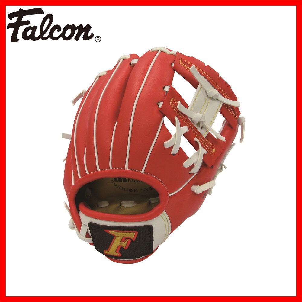 【Falcon・ファルコン】 野球グローブ FG-1066rh 左投げ用(野球 グラブ 少年 軟式用 キッズ グローブ 子供 入門用 キャッチボール やわらか 左 赤 レッド Falcon ファルコン ) 02P03Dec16
