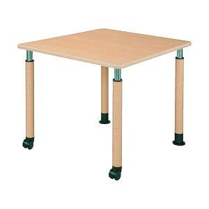 井上金庫 テーブル UFT-0909B Bタイプ 2本キャスター脚/2本固定脚 W900×D900×H596〜796(mm) 介護・福祉施設向け