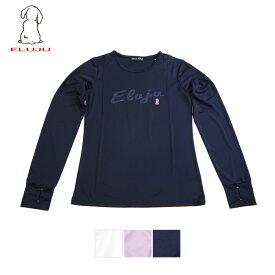 [メール便可] ELUJU エルジュ ドライメッシュ指穴長袖Tシャツ ブランドのロゴデザインのベーシックTシャツです Tシャツ 長袖 シンプル ドライメッシュ 吸水 速乾 ストレッチ 普段着 スポーツ UV対策
