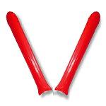 【スティックバルーン】赤色【2本組】