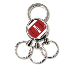 3連 キーホルダー アメリカンフットボール[鍵 カギ チャーム キーリング かわいい かっこいい メンズ プレゼント ギフト プチギフト お誕生日 卒業記念品 プレゼント ギフト 誕生日 引退 卒