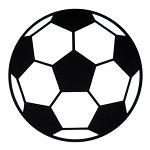 ラバーコースターサッカーボール柄