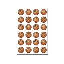 Φ10mmシール(紙) バスケットボール 24個付[バスケ シール ステッカー かわいい 可愛い文房具 文具 事務用品 バスケグ…