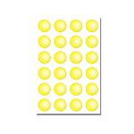 シール(紙)【テニスボール柄】Φ10mm1シート24個つき10P15Jan10