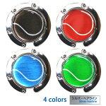 バッグハンガーテニスボール柄【ブラック(黒/銀)】【レッド(赤/銀)】【ブルー(青/銀)】【グリーン(緑/銀)】