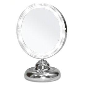 拡大鏡+LEDライト付き 真実の鏡DX ミニS型 しっかり見えるから、メイクアップやお手入れがしやすいどこでも使える電池式 角度調節可 真実の鏡 DX ミニS型(かがみ カガミ ミラー 丸 メイクミラー 化粧鏡 スタンド 卓上 おすすめ オススメ 通販 楽天)