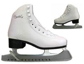 【初回研磨無料】ZAIRAS(ザイラス) フィギュアスケート靴 クリスタル2 CRYSTAL2 FIGURE SKATES (F-130)  ホワイト(白)(UP_SK)