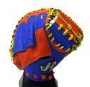 HATAKEYAMA(ハタケヤマ) 少年軟式キャッチャーミット 捕手用 右投げ用 シェラームーブ (B)ブルー×レッド PRO-…