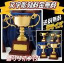 【ゴールド】優勝カップ(25.5cm)【送料無料】★文字彫刻無料★リボン代込★【持ち回りカップの定番:RG8705E】レプリカカップもご一…