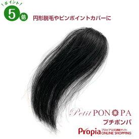 ポイントウィッグ 人毛100% 円形脱毛症 総手植え 部分ウィッグ つむじ トップのボリューム Petit PON-PA プチポンパ