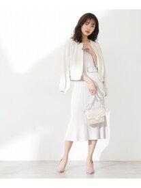 [Rakuten Fashion]ノーカラーフロントジップブルゾン PROPORTION BODY DRESSING プロポーションボディドレッシング コート/ジャケット ブルゾン ホワイト ベージュ【先行予約】*【送料無料】