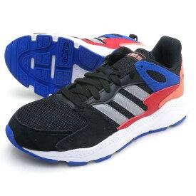 adidas アディダススニーカー ADICHAOS J アディカオス ブラックxグレーxレッド ジュニア/レディースサイズ 子供/女性用 ローカット レトロ シューズ 靴