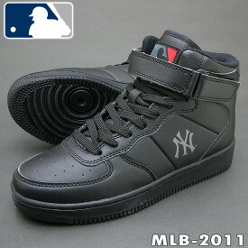 ニューヨークヤンキース MLB-2011 ブラック 大き目の作りです ハイカット スニーカー MLB2011【ラッキーシール対応】