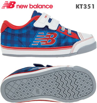 新平衡運動鞋KT351藍色/紅(BRI/BRP)嬰兒,幼兒鞋