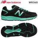 NBニューバランス スニーカー WR360ブラック/エメラルド(BK5)靴幅:2Eレディースジョギングランニングシューズ
