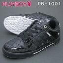 PLAYBOY Bunny プレイボーイ バニー レディース スニーカー PB-1001 ブラック/シルバー