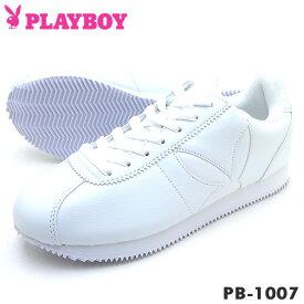 PLAYBOY Bunny プレイボーイ レディース スニーカー PB-1007 ホワイト PB1007PSsale