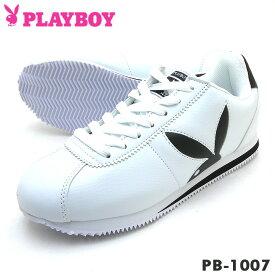 PLAYBOY Bunny プレイボーイ レディース スニーカー PB-1007 ホワイト/ブラック PB1007PSsale