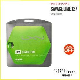 画LUXIRON ルキシロン SAVAGE LIME 127WRZ994500 硬式テニスガット サベージ ライム12730%OFFセール