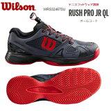 WILSONウィルソンジュニア硬式テニスシューズオールコート用RUSHPROJRQLWRS324670