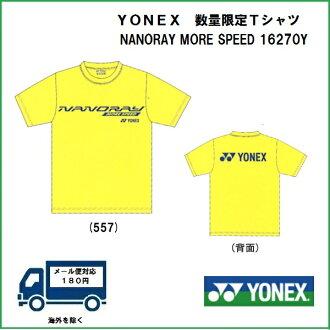 [网球·羽毛球专营商店puroshoppuyamano]供YONEX尤尼克斯羽毛球使用的纳米花环T恤数量限定16270Y Uny T恤