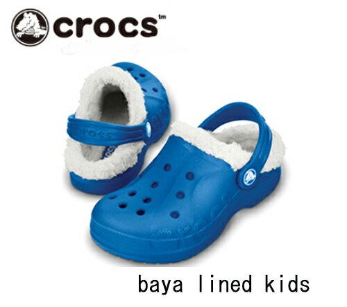 【クロックスジャパン正規品【★在庫一掃セール!】 クロックス(Crocs) バヤ ラインド キッズ baya lined kids 【メール便NG】【crocssale】