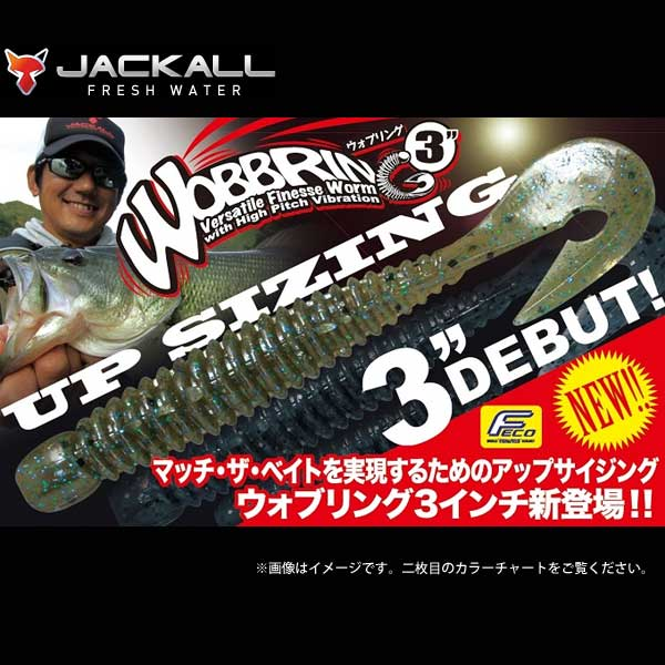 ジャッカル ウォブリング3インチ JACKALL WOBBRING 【メール便OK】【FECO認定商品】