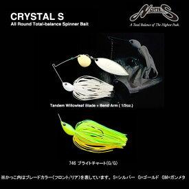 ノリーズ クリスタルS 1/2oz #746 ブライトチャート(G/G) NORIES CRYSTAL 【メール便OK】