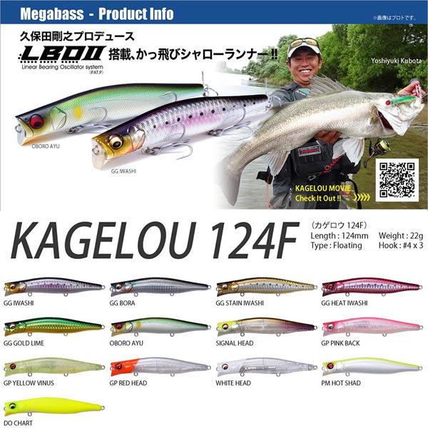 メガバス カゲロウ124F Megabass KAGELOU 124F 【メール便OK】