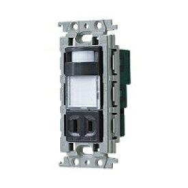 パナソニック グレーシアシリーズかってにナイトライト 埋込熱線センサ付ナイトライト LED:電球色 明るさセンサ付 コンセント付 15A 125V グレー WTV4065H